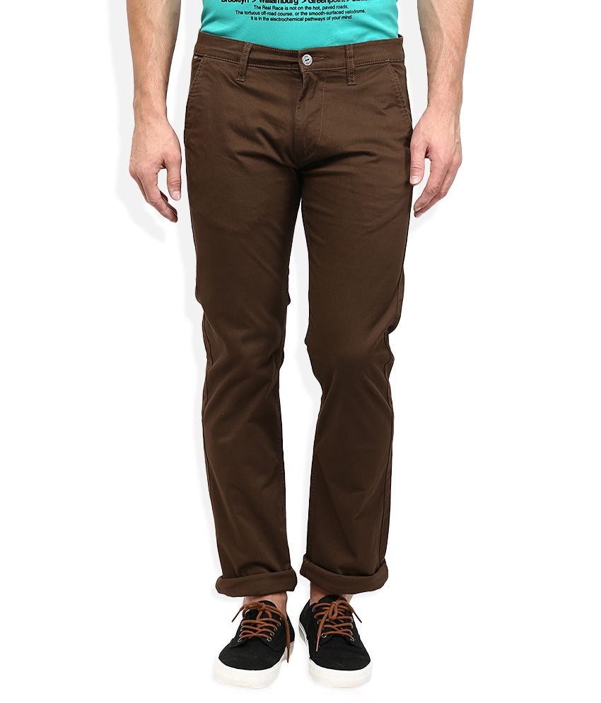 Lee Brown Powell Slim Fit Casual Trousers