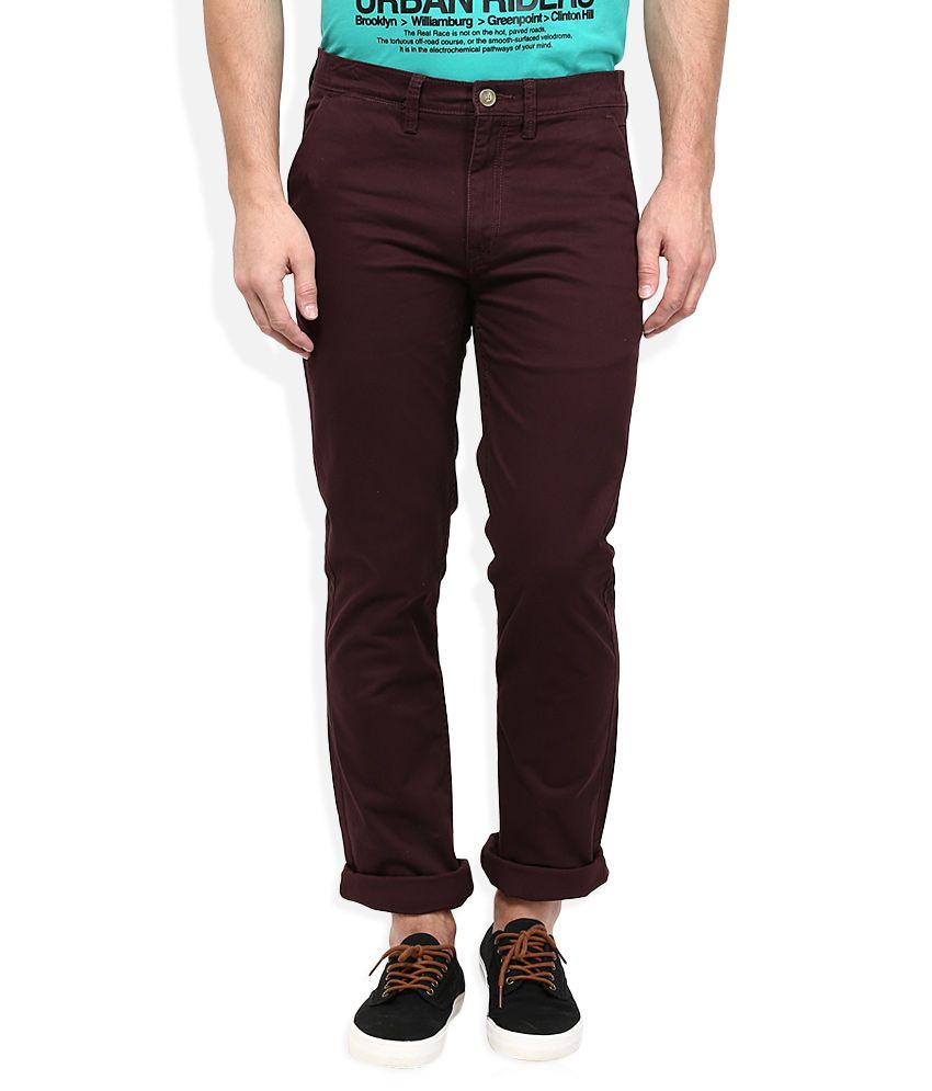 Lee Brown Slim Fit Trousers