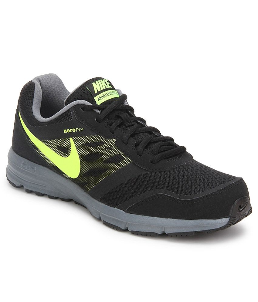 e6bae4fb38fa0 Nike Air Relentless 4 Msl Black Sport Shoes - Buy Nike Air Relentless 4 Msl  Black Sport Shoes Online at Best Prices in India on Snapdeal