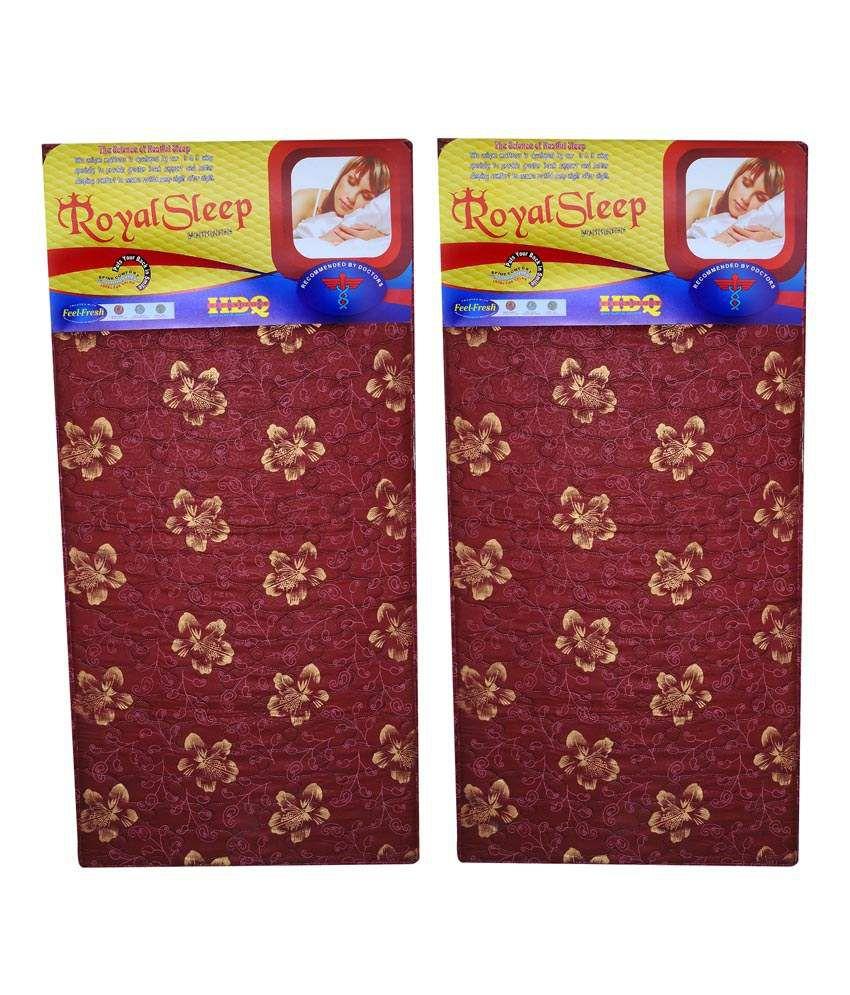 royal sleep foam mattresses set of 2 buy royal sleep foam