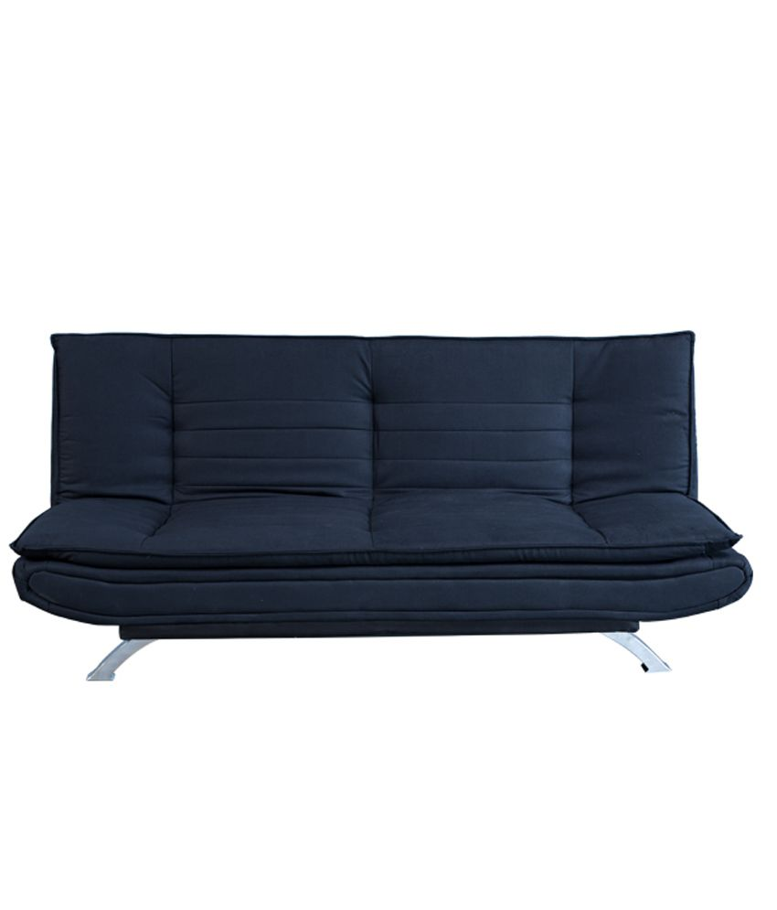 forzza sofa cum bed in black rh snapdeal com