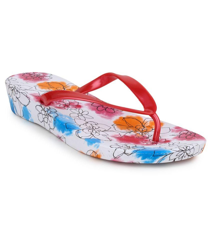 11e Red Flip Flops
