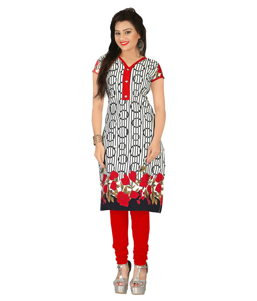 Parisha Red Cotton Kurti