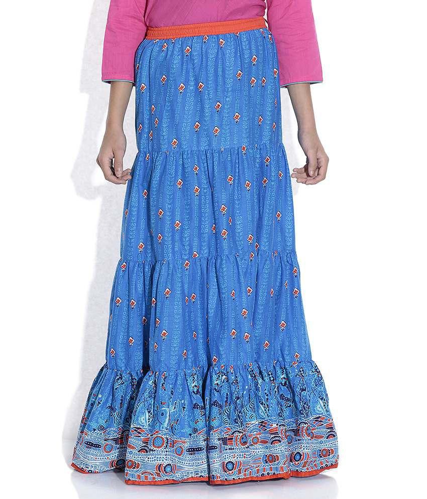 Biba 100% Cotton Blue  Skirt For Kids