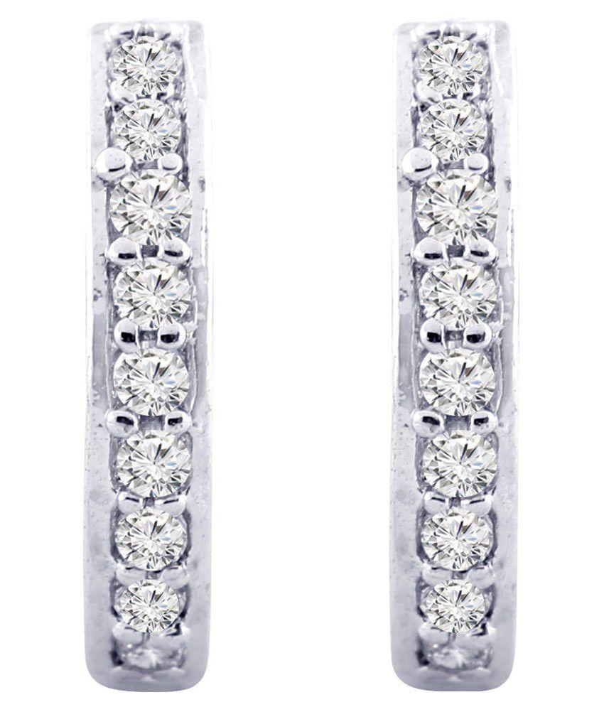 Jewelscart Silver Alloy Huggies Earrings