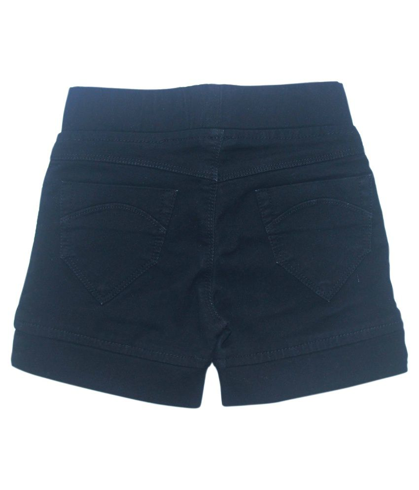 Kitts N Nevis Black Denim Shorts