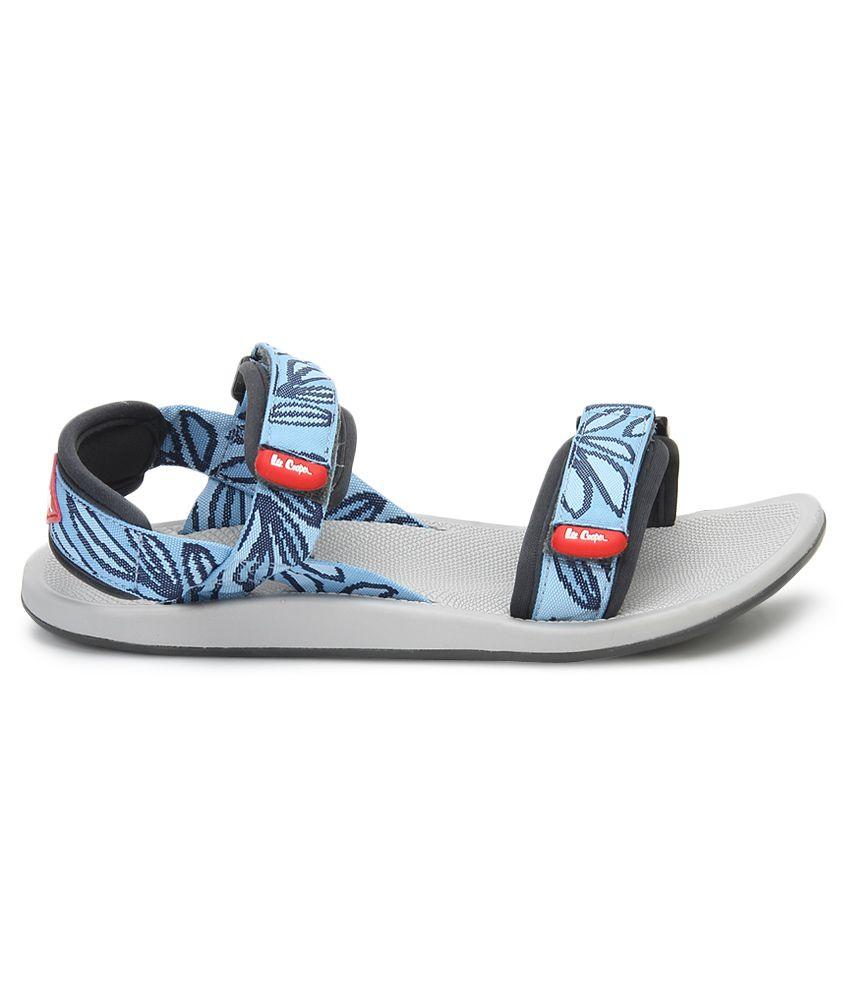 0c5ba9c0 Lee Cooper Blue Floater Sandals Price in India- Buy Lee Cooper Blue Floater Sandals  Online at Snapdeal