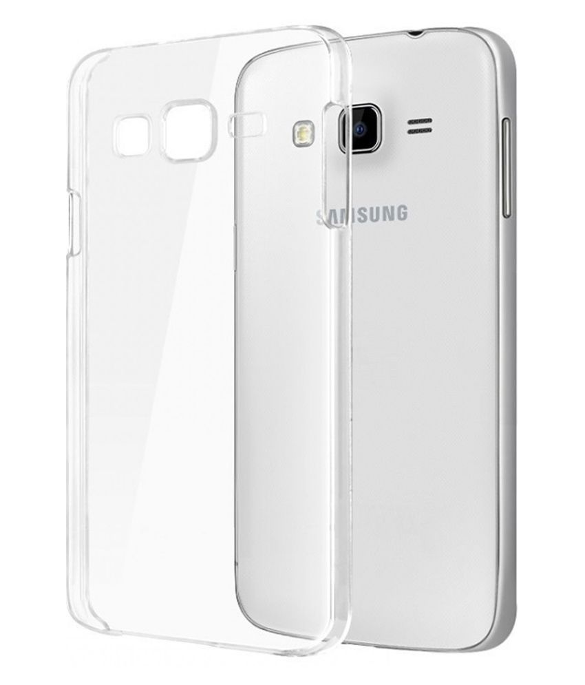 new style 711bf 95f75 MannMohh Transparent Back Cover for Samsung Galaxy Core Prime VE Sm-G361H