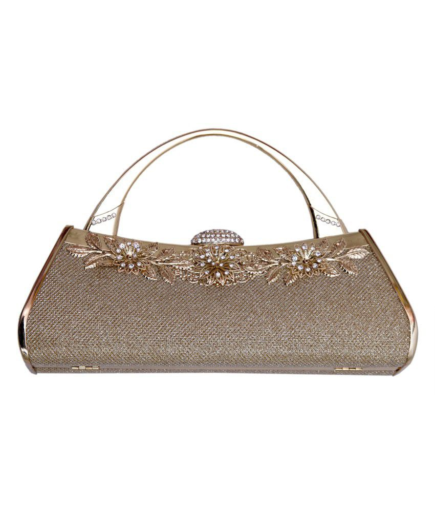 where to buy moderate price matching in colour Buy Stylo Gold Designer Clutch at Best Prices in India ...