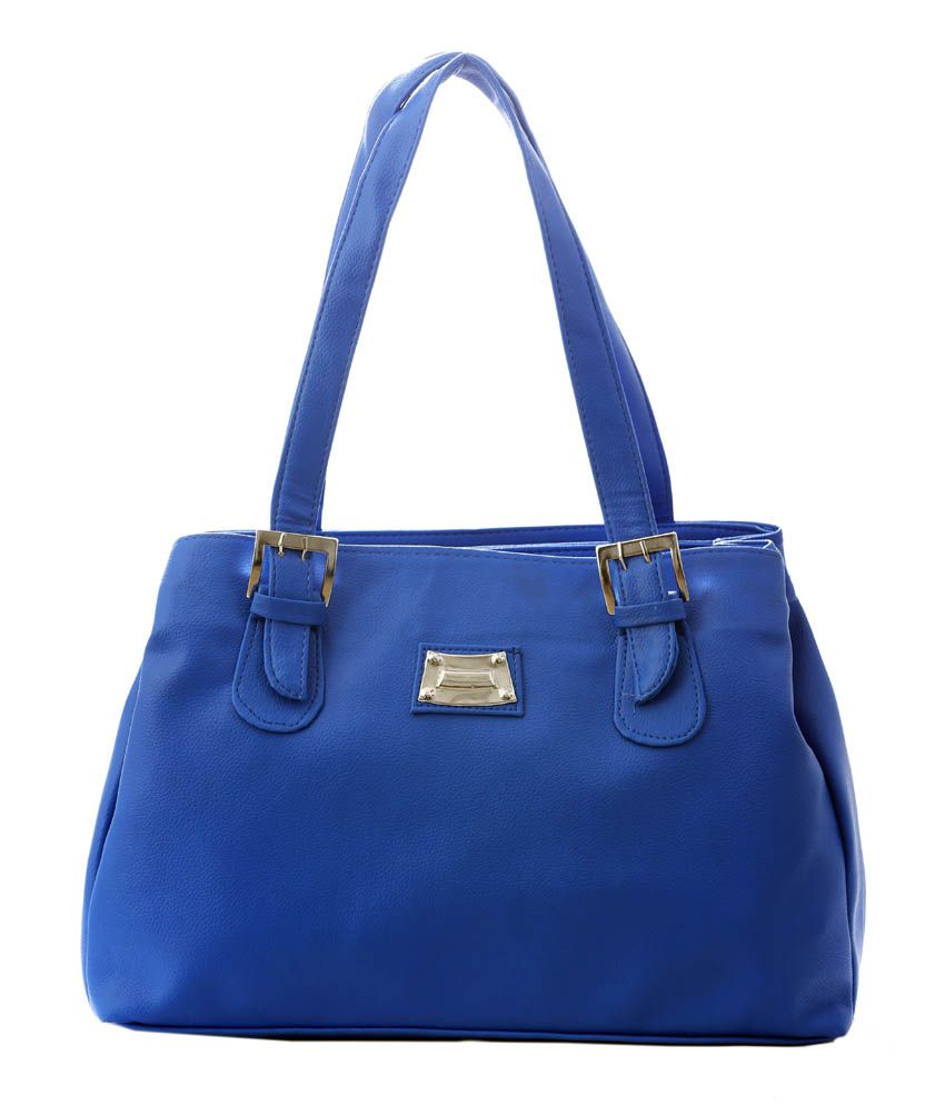 Felicita Blue Zip Shoulder Bag