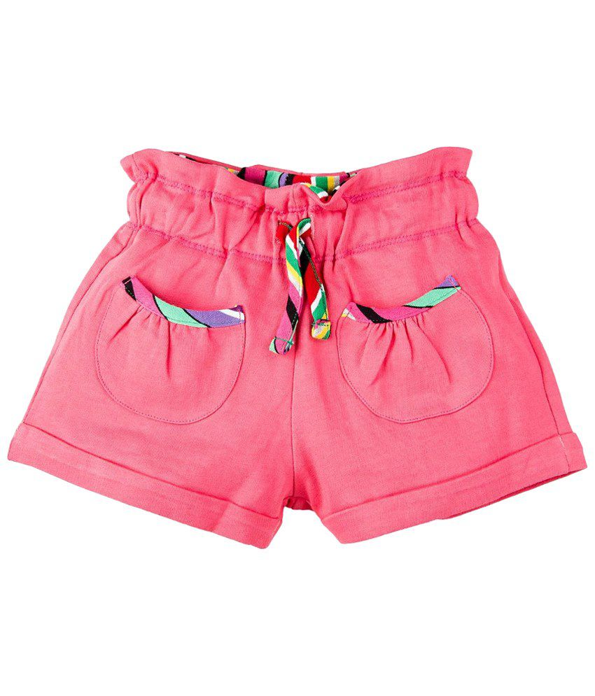 Oye Pink Cotton Shorts