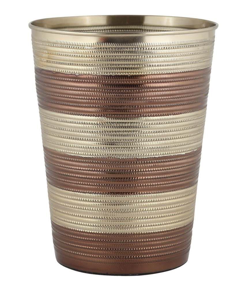 Pumango chocolate gold bath set best price in india on 1st for Gold bathroom bin