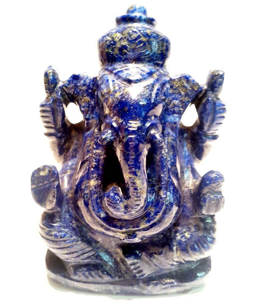 Sccottage Lapis Lazuli Ganesha God Idol