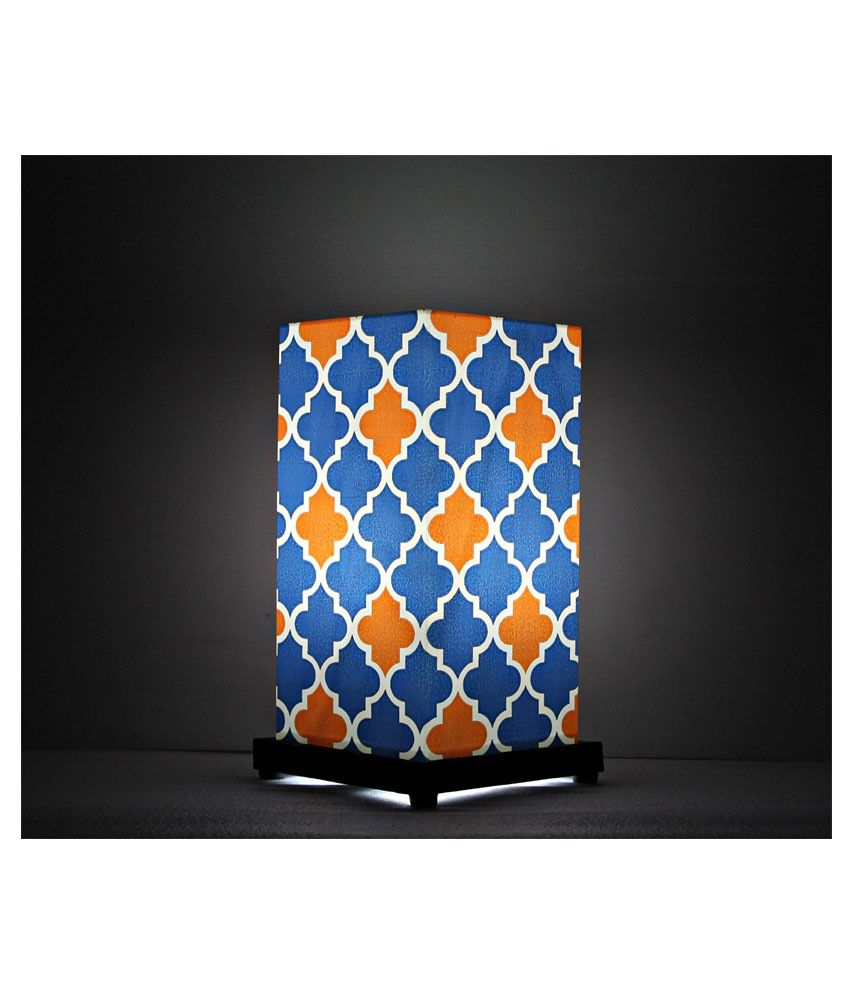 9Gifts Orange  amp; Blue Moroccan Net Table Lamp