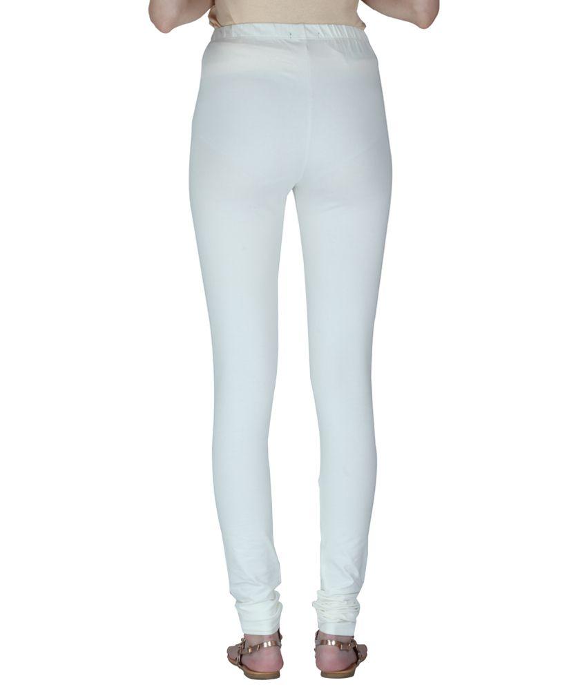 7f5152cd7a344 Insense White Plain Leggings Price in India - Buy Insense White ...