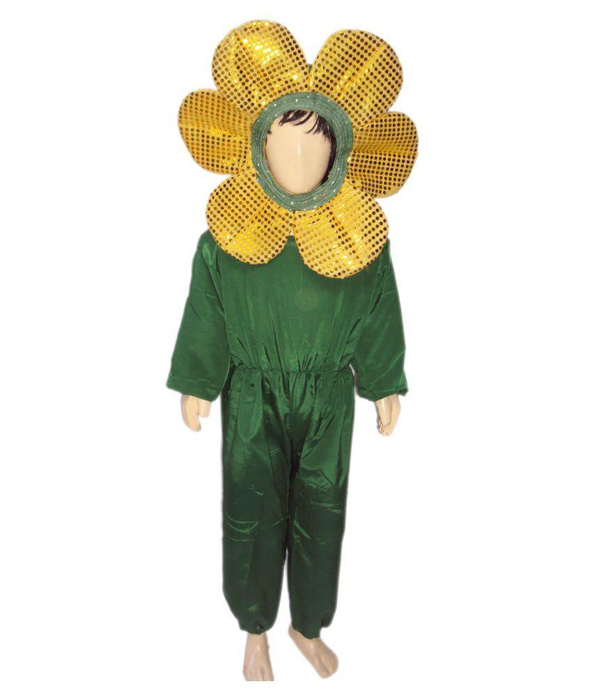 Kaku Fancy Dresses Yellow Silk Costume