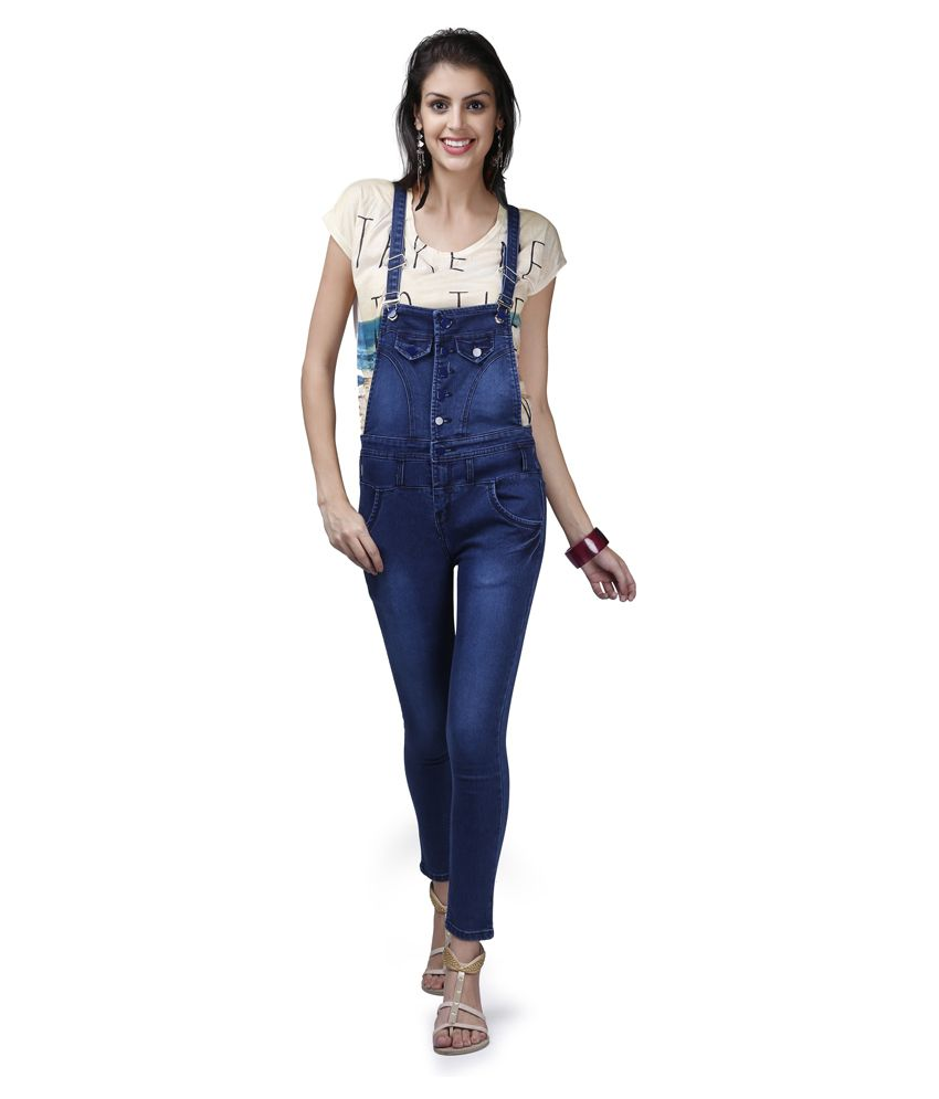 07748247e52 X-POZ Blue Denim Jumpsuits - Buy X-POZ Blue Denim Jumpsuits Online at Best  Prices in India on Snapdeal