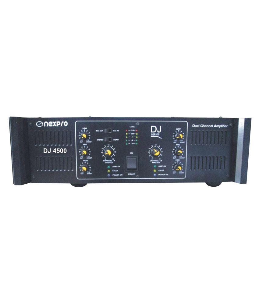 Nexpro Dj4500 Pa System Power Amplifier Black Buy