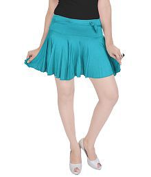 7100c4aa3b30 Quick View. Rajasthani Sarees Turquoise Cotton Lycra Mini Skirt. Rs. ...