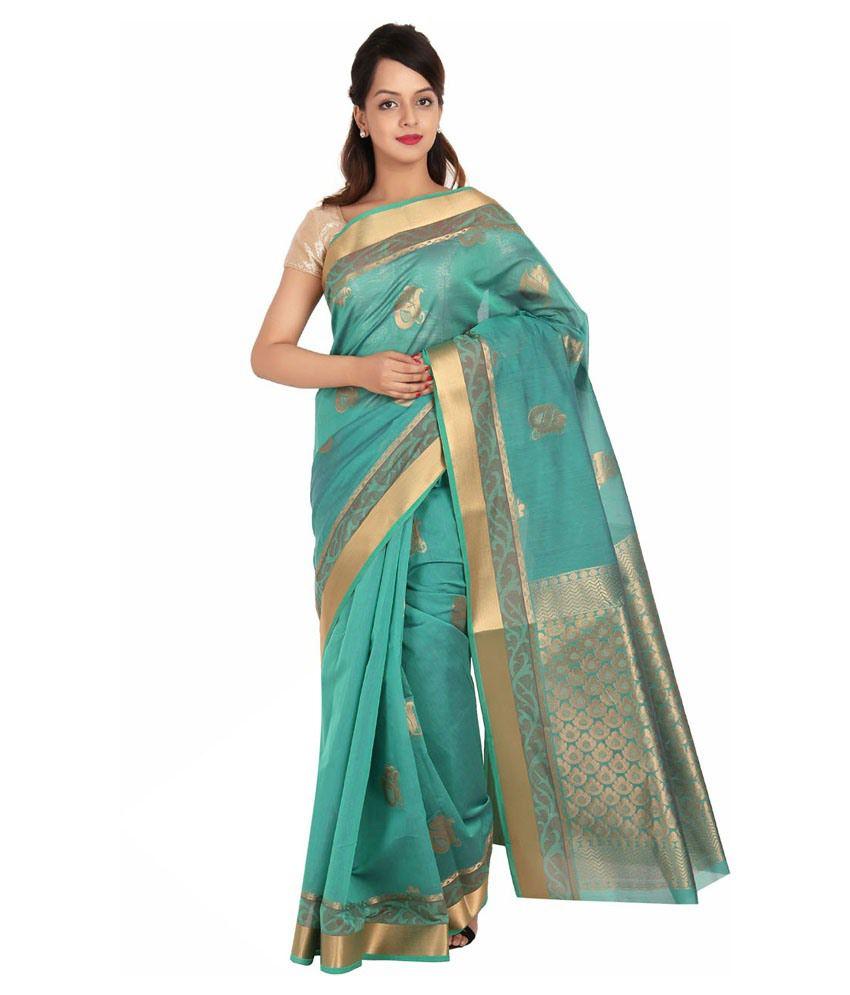Platinum Multi Cotton Silk Saree