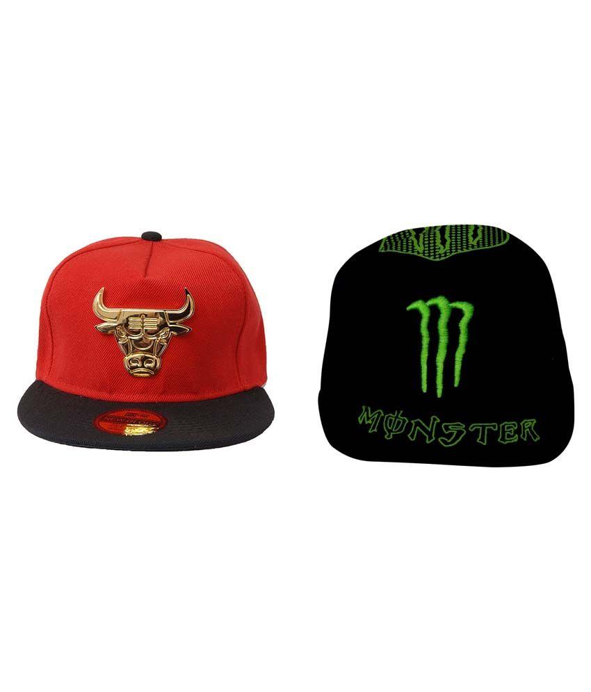 Virgo Combo of 2 Bull 3D Snapback Hip Hop Baseball Cap
