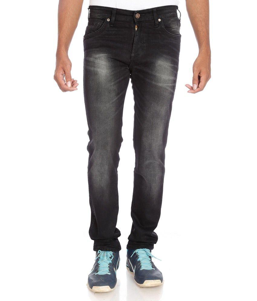 Wrangler Black Slim Fit Jeans