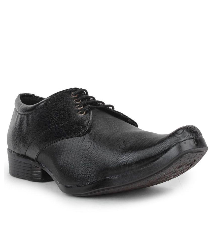Beonza Black Formal Shoes