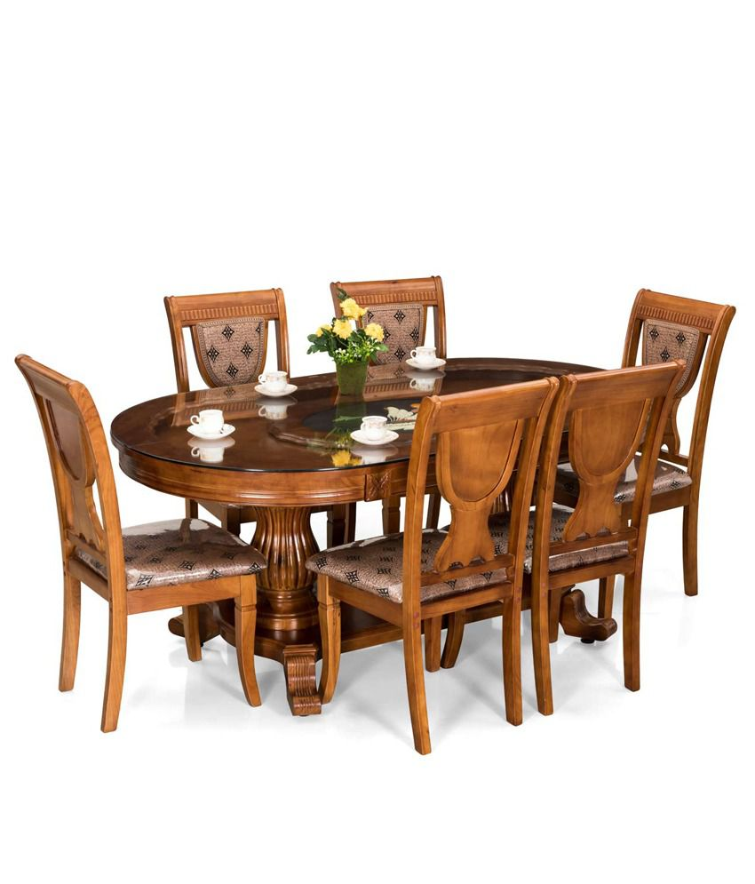 royaloak titan dining set with six chairs buy royaloak titan rh snapdeal com