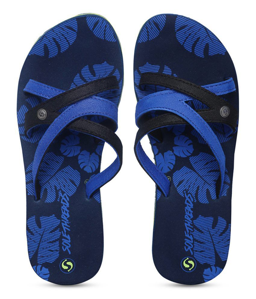 Sole Threads Coco Blue Flip Flops