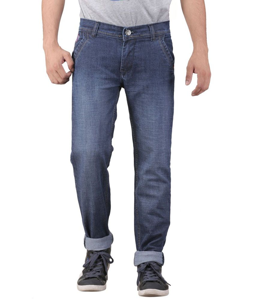 Leo Blue Regular Fit Jeans