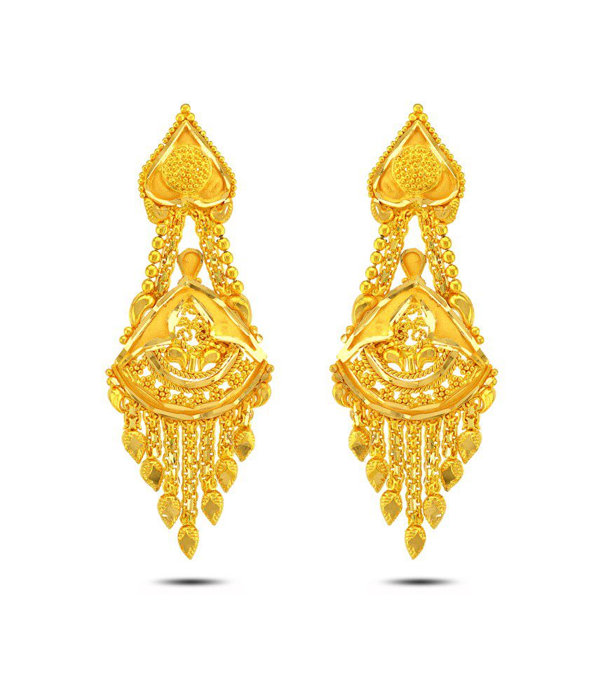 P.N.Gadgil Jewellers 22kt Gold Drop Earrings