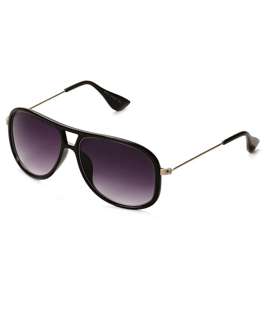 C&J Classic Black Gradient Ractangle Sunglasses With 100% Uv Protection