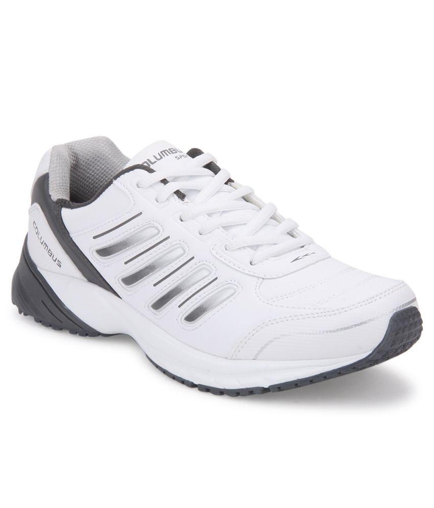 Columbus Flexible White Sport Shoes