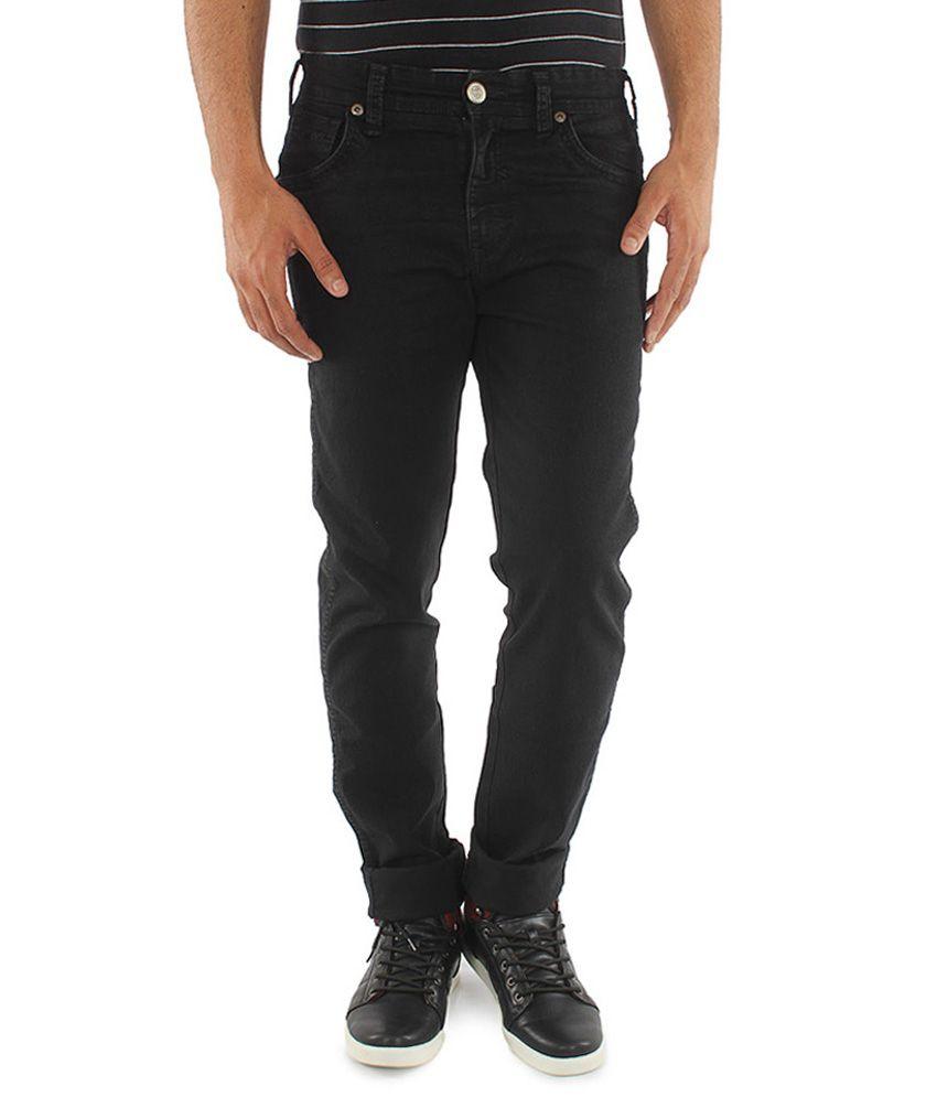 Wrangler Men's Black Stretchable Denim
