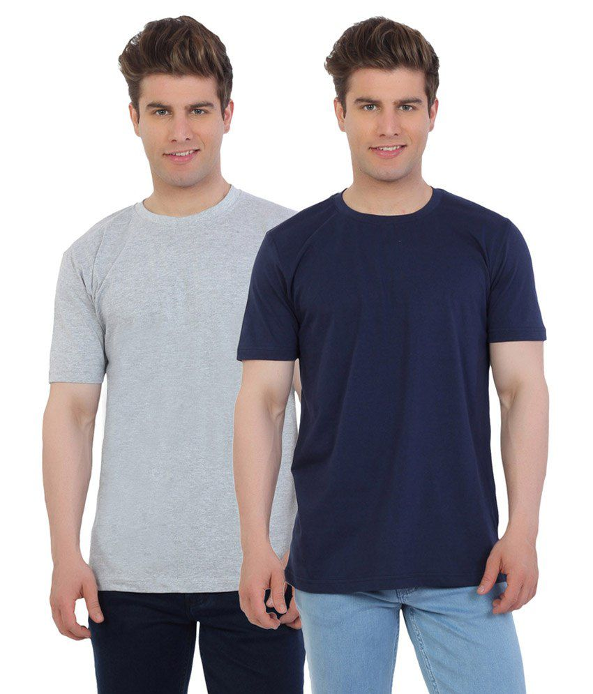 Eetee Multicolour Cotton T-Shirt Pack Of 2