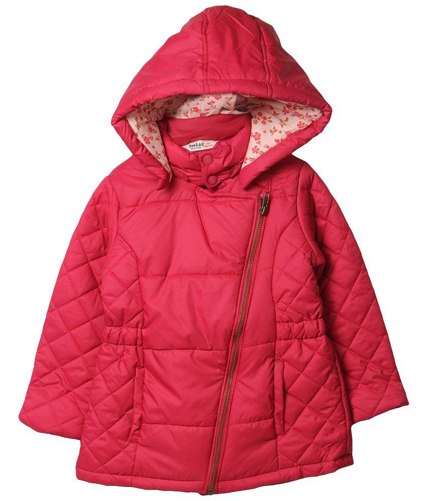 Beebay Pink Solid Quilted Jacket
