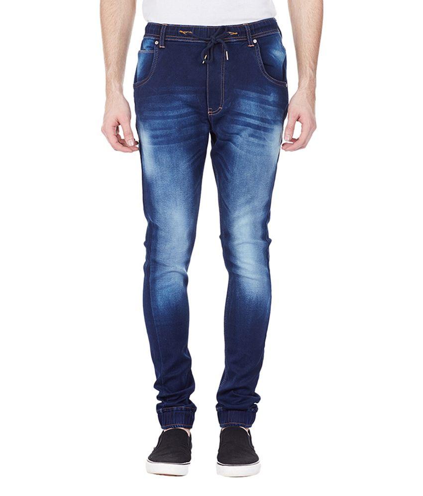Bandit Dark Blue Cotton Men's Casual Slim Fit Jeans