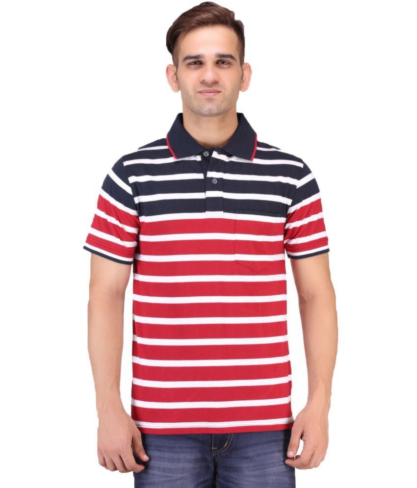 Keywest Multicolour Half Sleeves Stripe Polo T-shirt