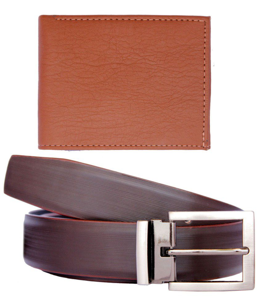 Discover Fashion Leather Belt And Wallet Combo Of 2