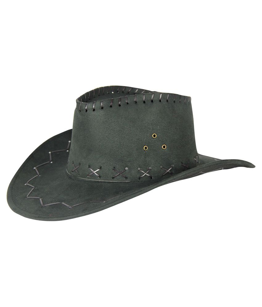 Fabseasons Black Cow Boy Hat