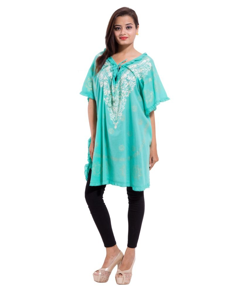 e8e4b43cd3f567 Buy Khushi Fabrics Blue Beach Tops Online at Best Prices in India - Snapdeal