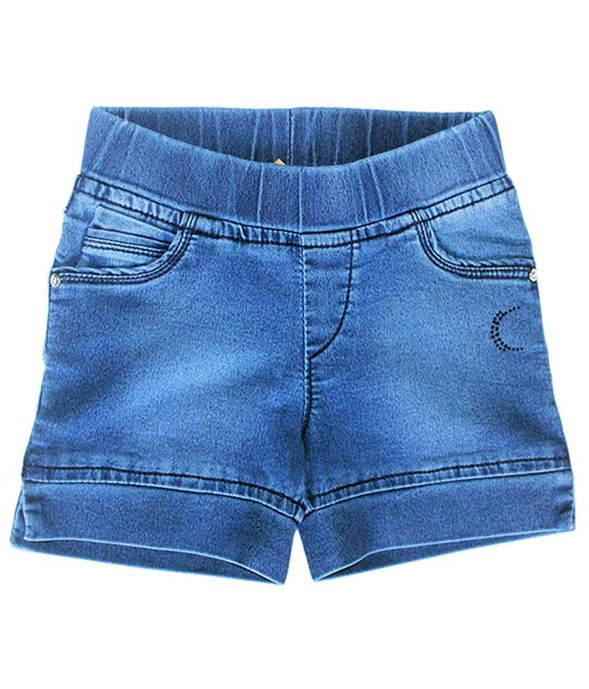 Kitts N Nevis Blue Denim Shorts