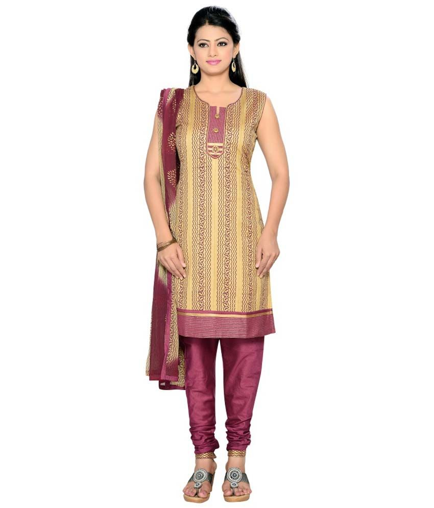 Sixsigma Purple Faux Georgette Stitched Suit