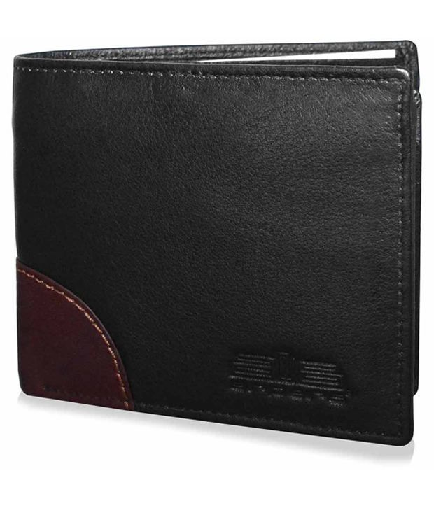 Arpera Leather Black Men Long Wallet