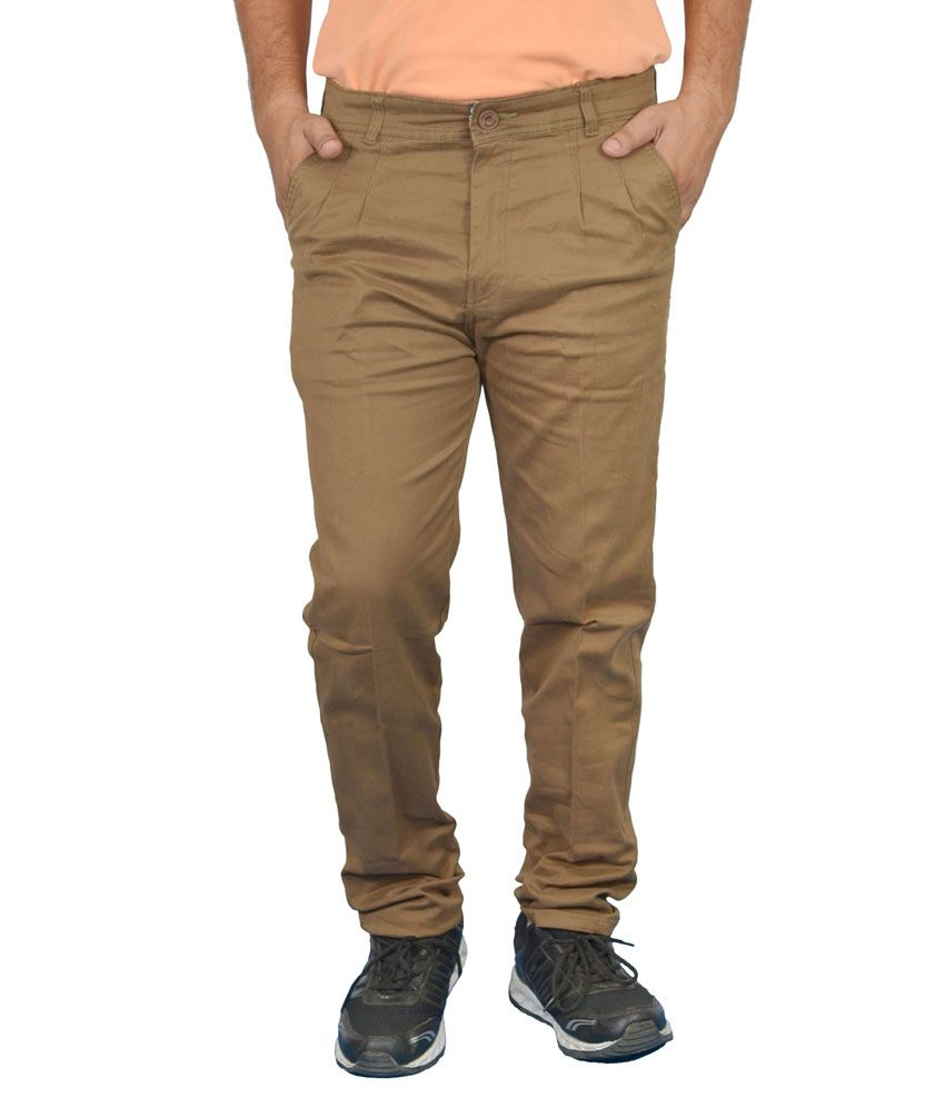 Jura Polo Brown Regular Fit Casual Chinos