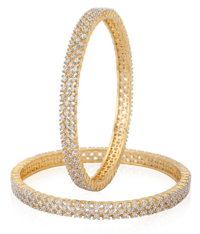 Alag Floral Golden Bangle Set