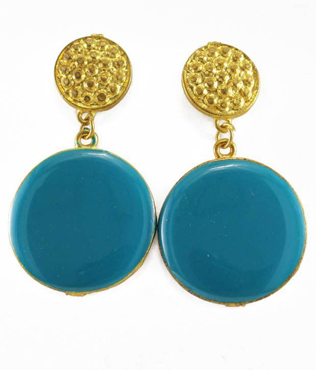 Crimson21 Blue Alloy Drop earrings