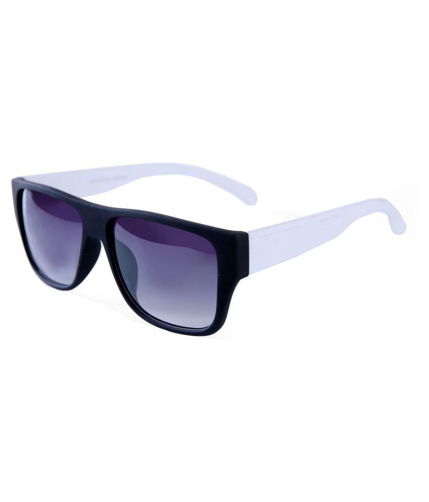 Elijaah White Frame Plastic Sunglasses