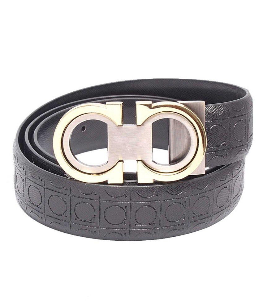 Monica Black Leather Casual Belt