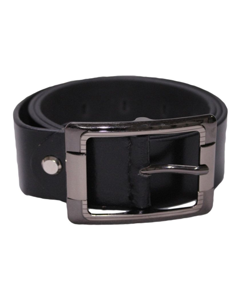 Paark Black Casual Single Belt For Men